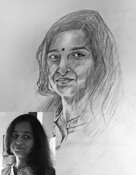 photo to art sketch gift photo to sketch painting gift india artfina