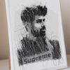 digital art gift personalized scribble illustration